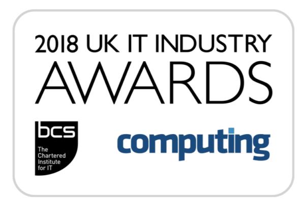 BCS UK IT awards 2018. Finalist