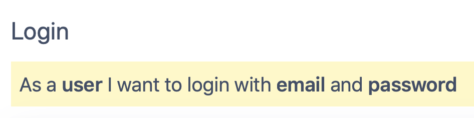 basic login with email and password