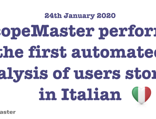 Global First – Analysis of User Stories in Italian
