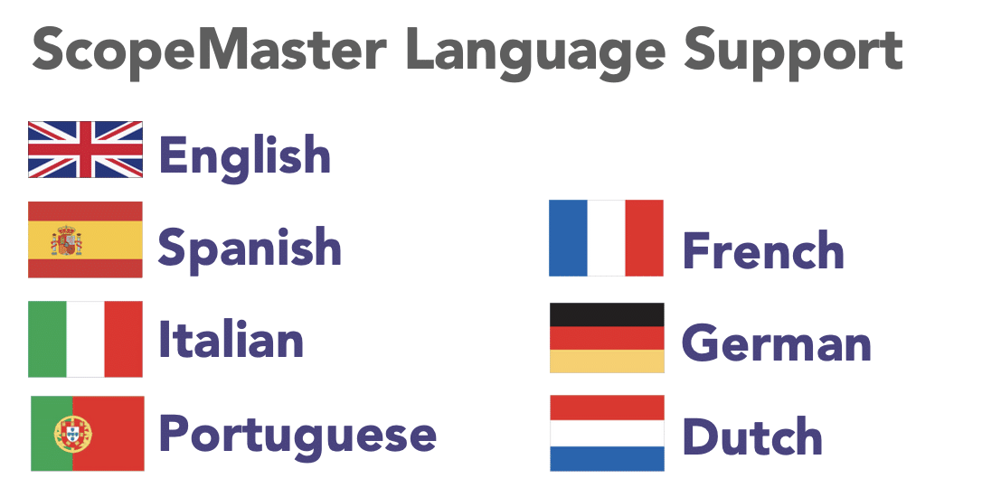 ScopeMaster Language Support