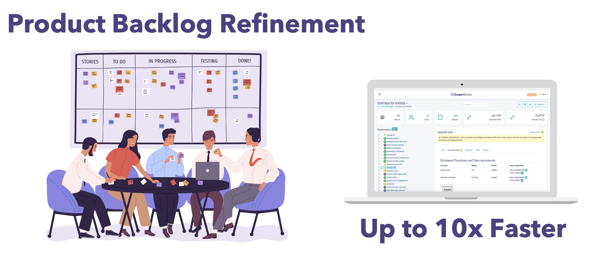 User story and backlog refinement accelerated with ScopeMaster, the ultimate in shift left testing